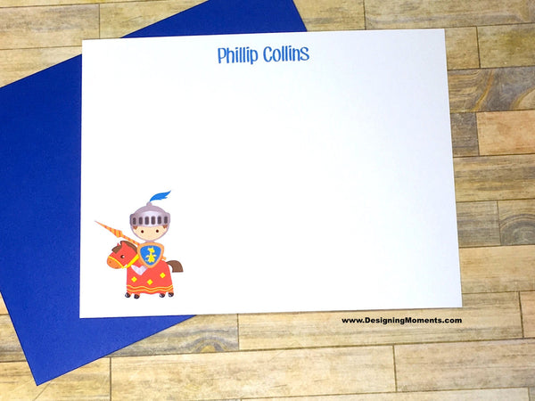 Knight in Shining Armor Personalized Note Cards