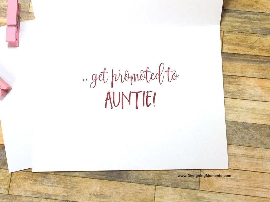 Boho Pink Only the Best Sisters Get Promoted to Auntie Card