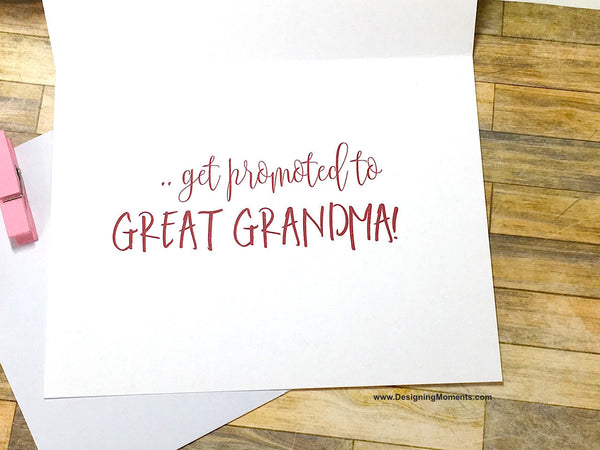 Only the Best Grandmas Get Promoted to Great Grandma