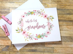 Boho Pink Only the Best Grandmas Get Promoted to Great Grandma Card