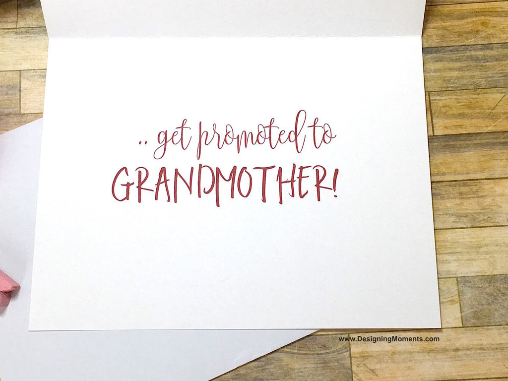 Boho Pink Only the Best Mothers Get Promoted to Grandmother Card
