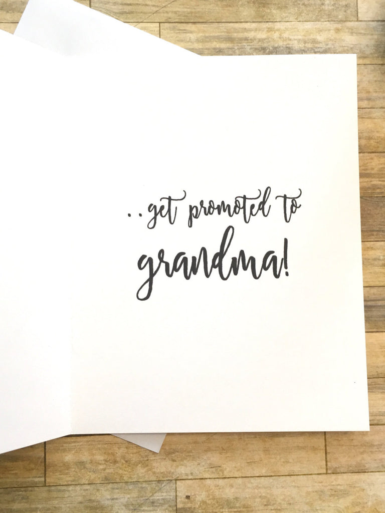 Pink Rustic Only the Best Moms Get Promoted to Grandma Card