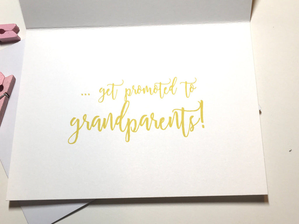 Gold and Pink Pregnancy Announcement for The Best Parents