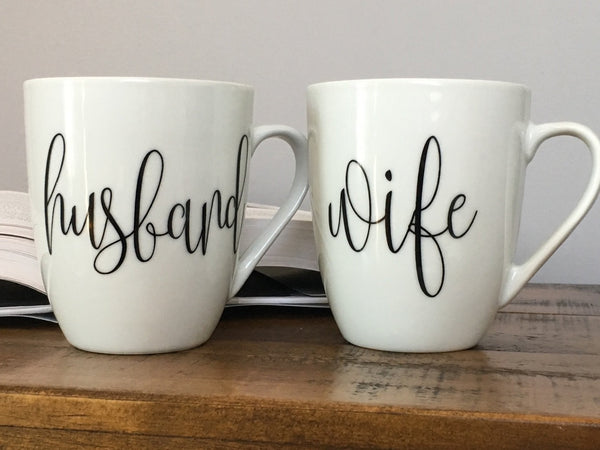 Husband and Wife Mug Set