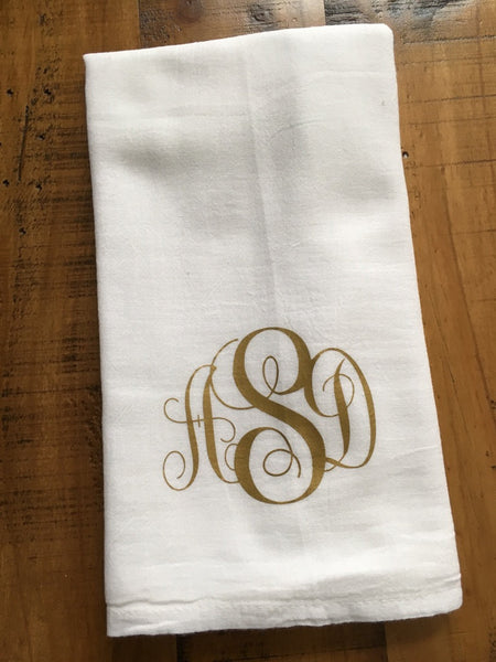 Monogrammed Kitchen Towel