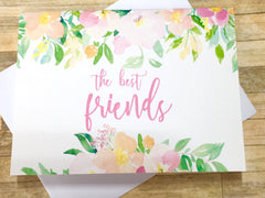 Best Friends Baby Announcement Spring Florals