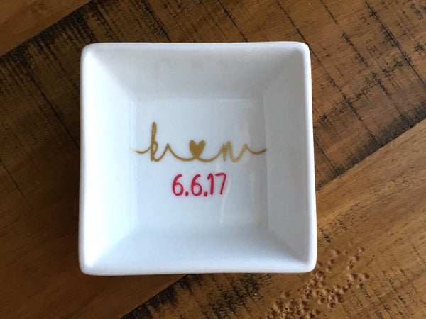 Personalized Initials Ring Dish