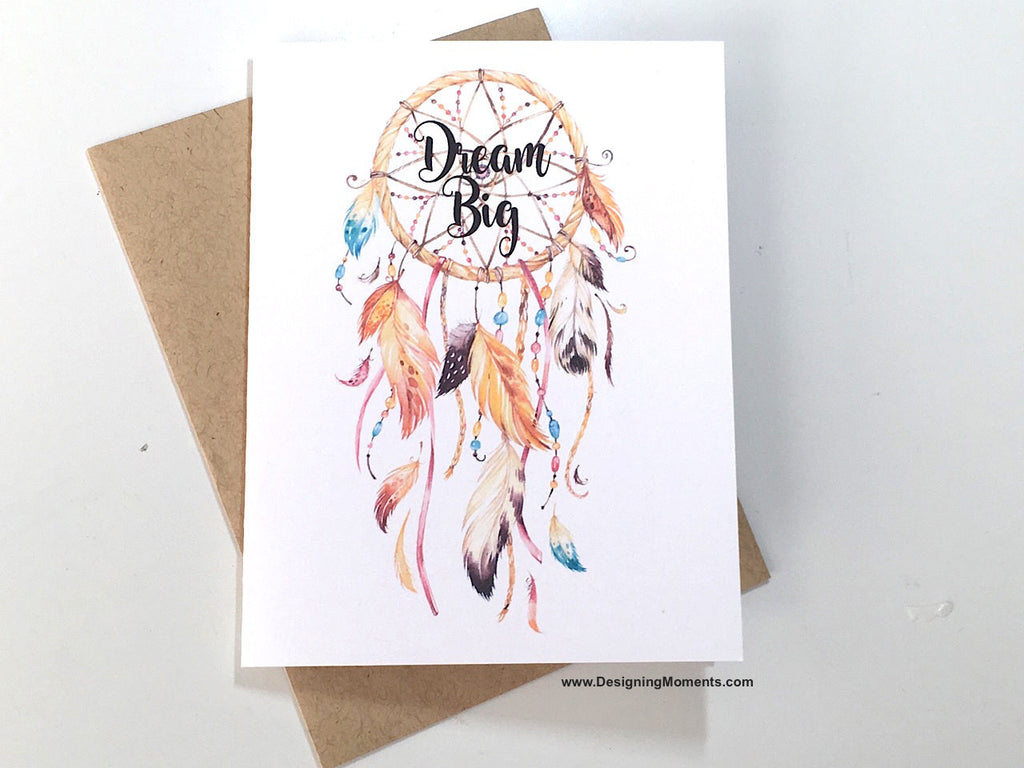 Dream Big Blank Dreamcatcher Note Card