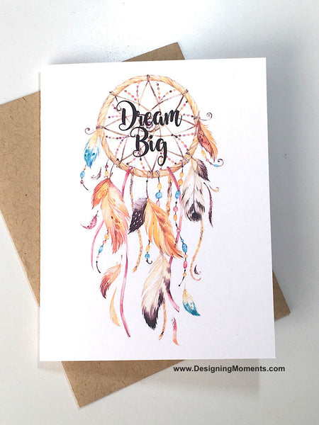 Dream Big Dreamcatcher Note Card