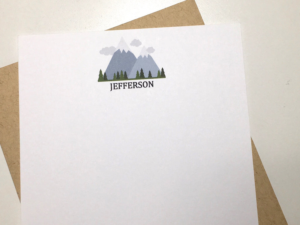 Mountain Scene Personalized Note Cards