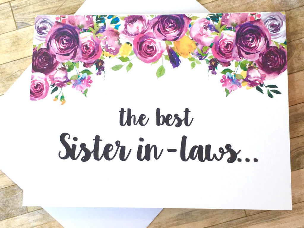 Sister in-Laws Get Promoted to Auntie Card Violet
