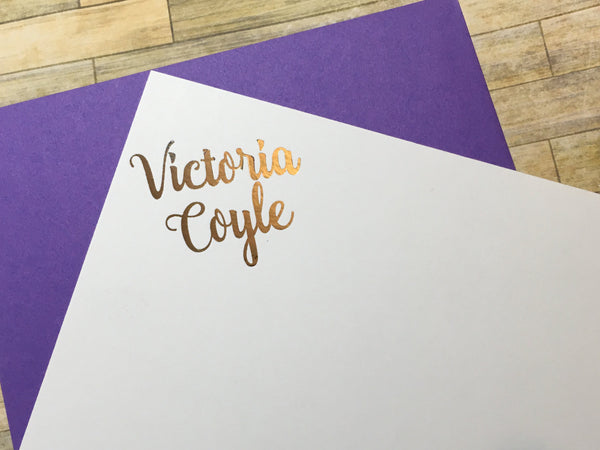 Corner Signature Personalized Note Cards