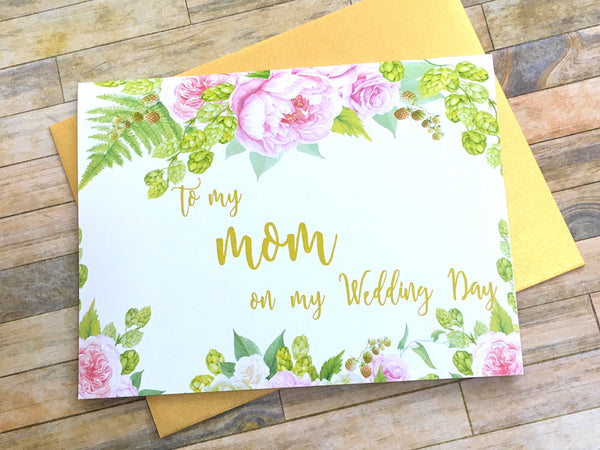 To My Mom on My Wedding Day