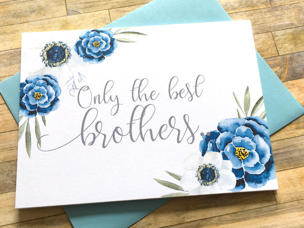 Navy and White Only the Best Brothers Get Promoted to Uncle Card