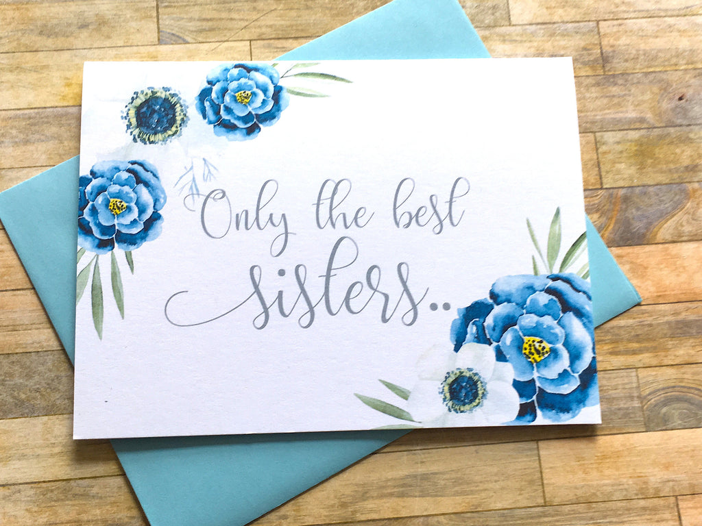 Navy Sisters Get Promoted to Auntie Baby Reveal Card