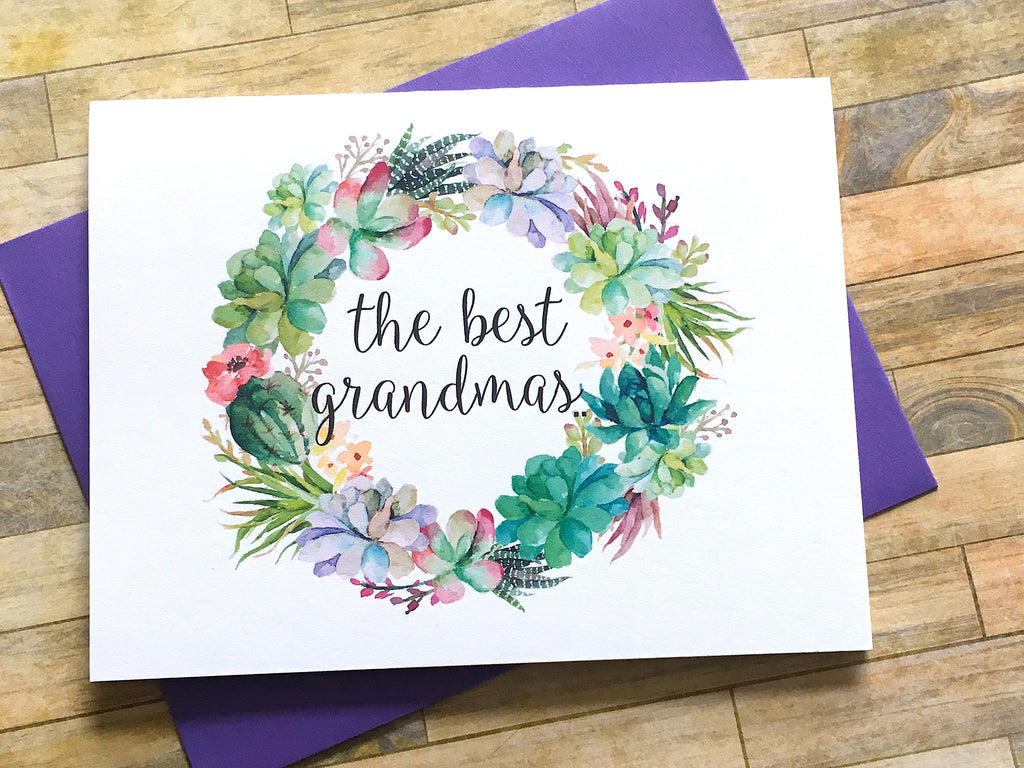 Succulent The Best Grandmas Get Promoted to Great Grandma