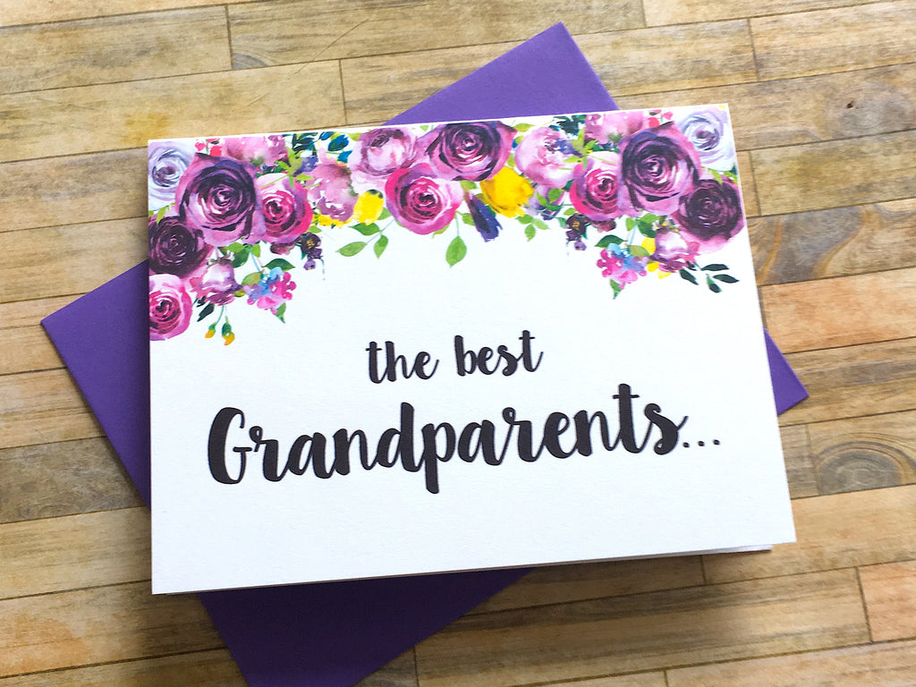 Grandparent Pregnancy Announcement Violets