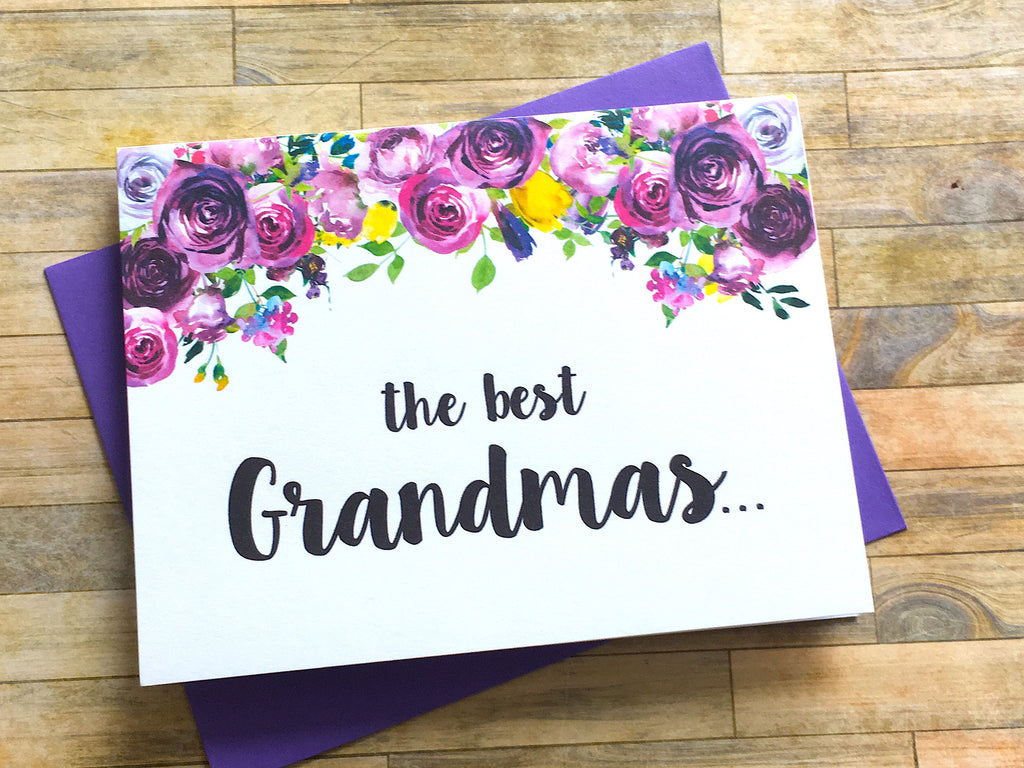 Grandmas Get Promoted to Great Grandma Card Violets