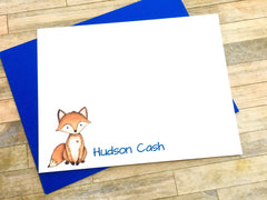 Fox Watercolor Personalized Note Cards
