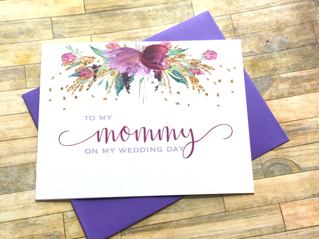 Mommy Wedding Day Card