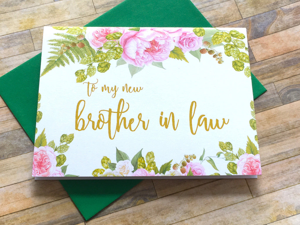 Brother in Law Card on Wedding Day