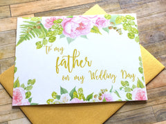 To My Father on My Wedding Day