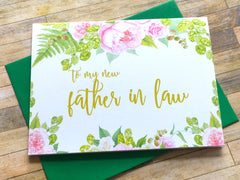 Father in Law Card on Wedding Day