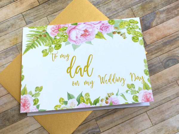 To My Dad on My Wedding Day