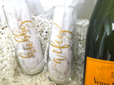 Hubby Wifey Champagne Flutes Set