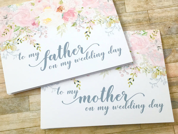 To My Mother/Father on My Wedding Day