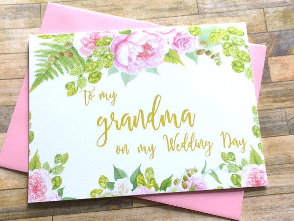 To My Grandma on My Wedding Day