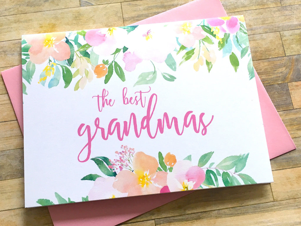 Grandma Baby Reveal Spring Florals