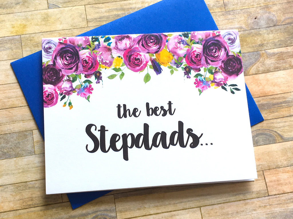 Stepdad Pregnancy Announcement Card Violet