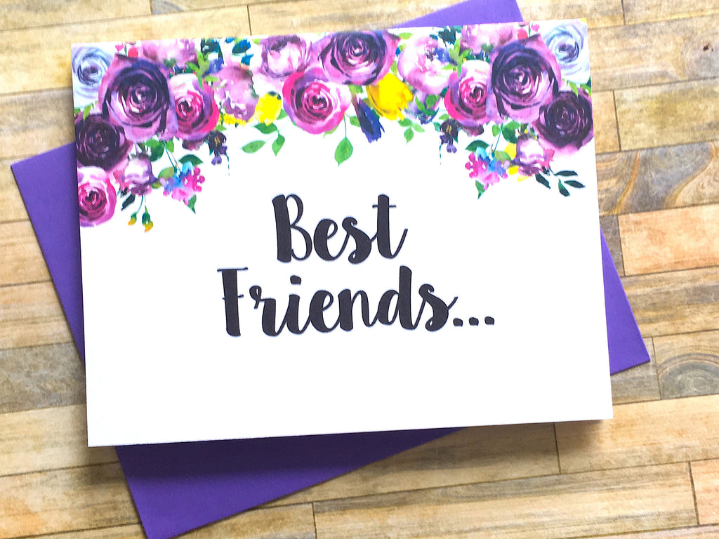 Violet Best Friends Pregnancy Announcement Card