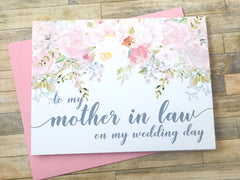 Mother / Father In Law Wedding Day Cards