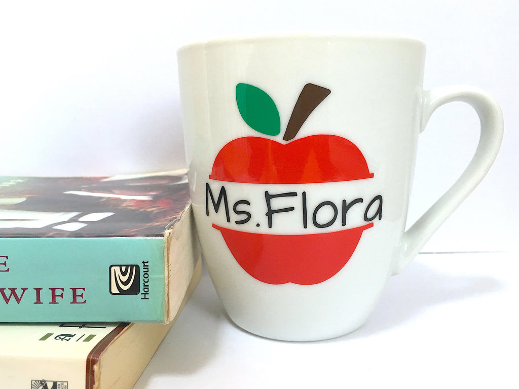 Apple Teachers Mug With Personalized Name