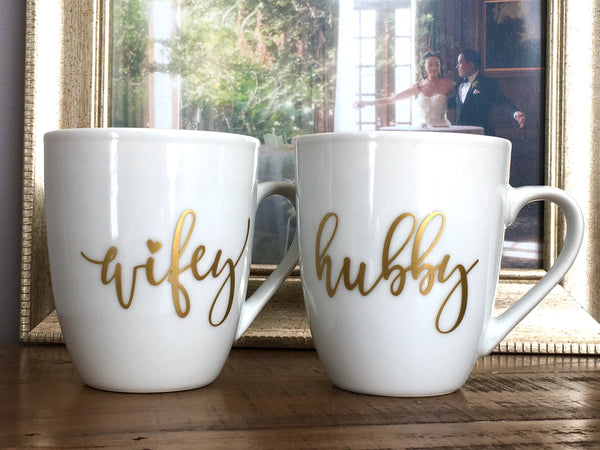 Wifey and Hubby Mug Set