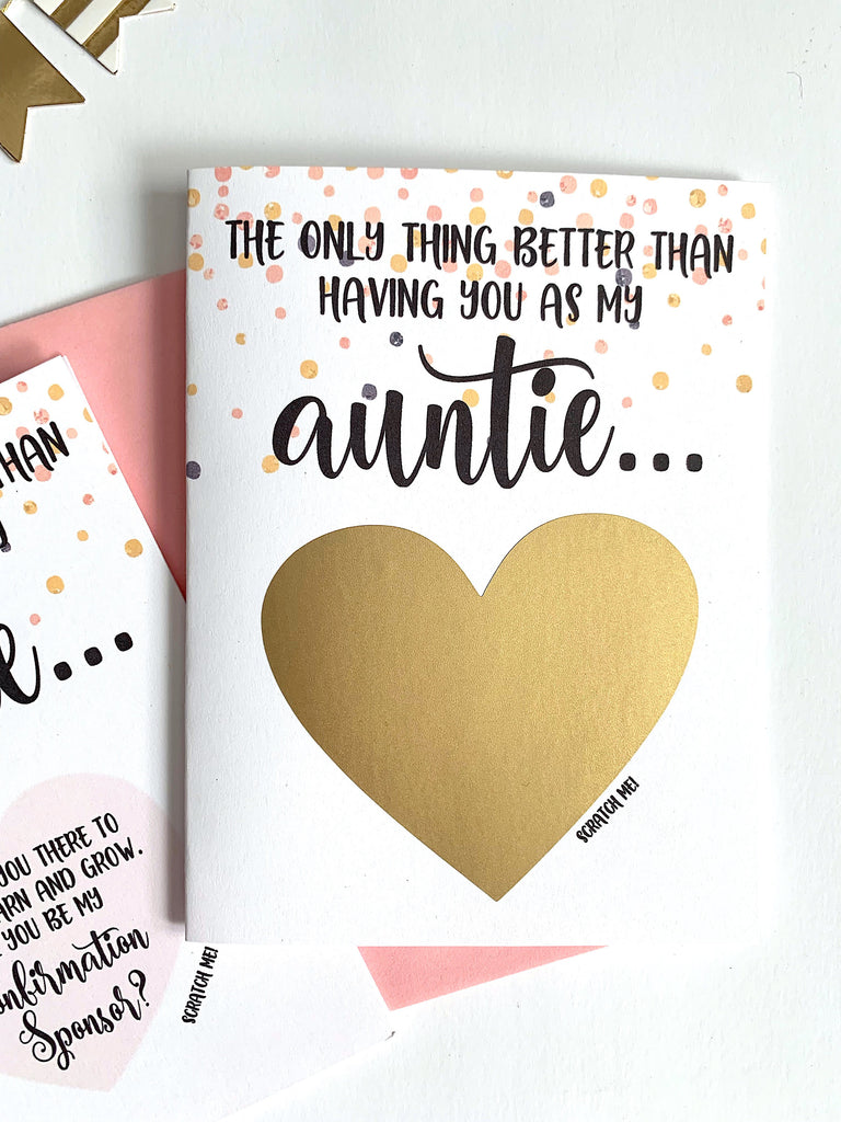 Confirmation Sponser Scratch Off Proposal for Aunt