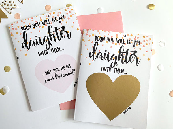 Junior Bridesmaid Scratch Off Proposal for Future Daughter