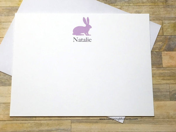 Bunny Rabbit Personalized Flat Cards