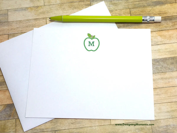 Apple Monogram Flat Cards