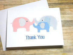Baby Elephant Thank You Cards