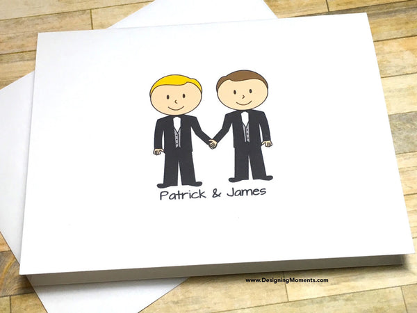 Gay Wedding Personalized Thank You Cards