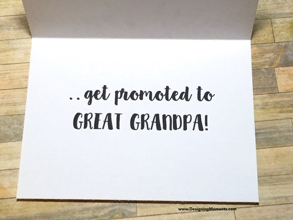 The Best Grandpas Get Promoted to Great Grandpa