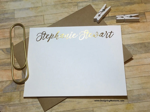 Personalized Foil Note Cards