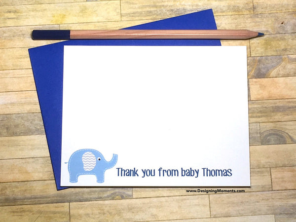 Elephant Thank You From Baby Personalized Note Cards