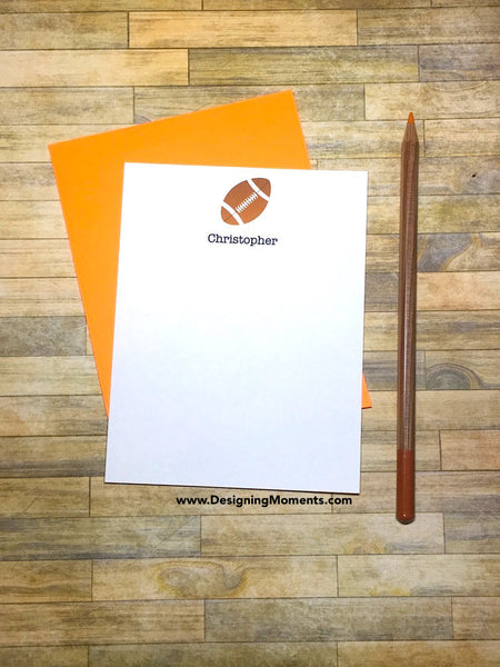 Football Personalized Stationery