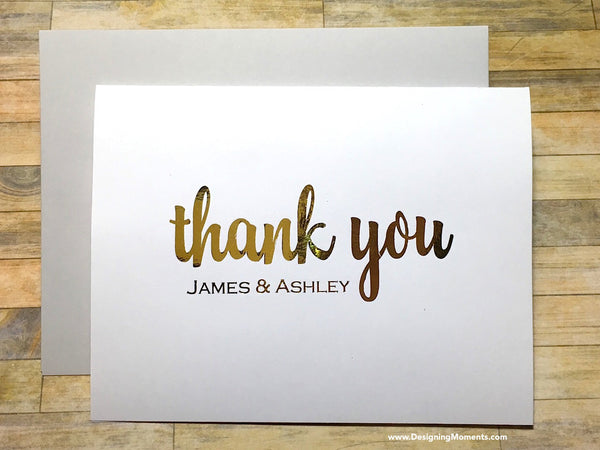 Personalized Foil Thank You Cards
