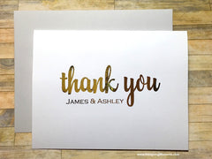 Gold Foil Thank You Cards from the Couple