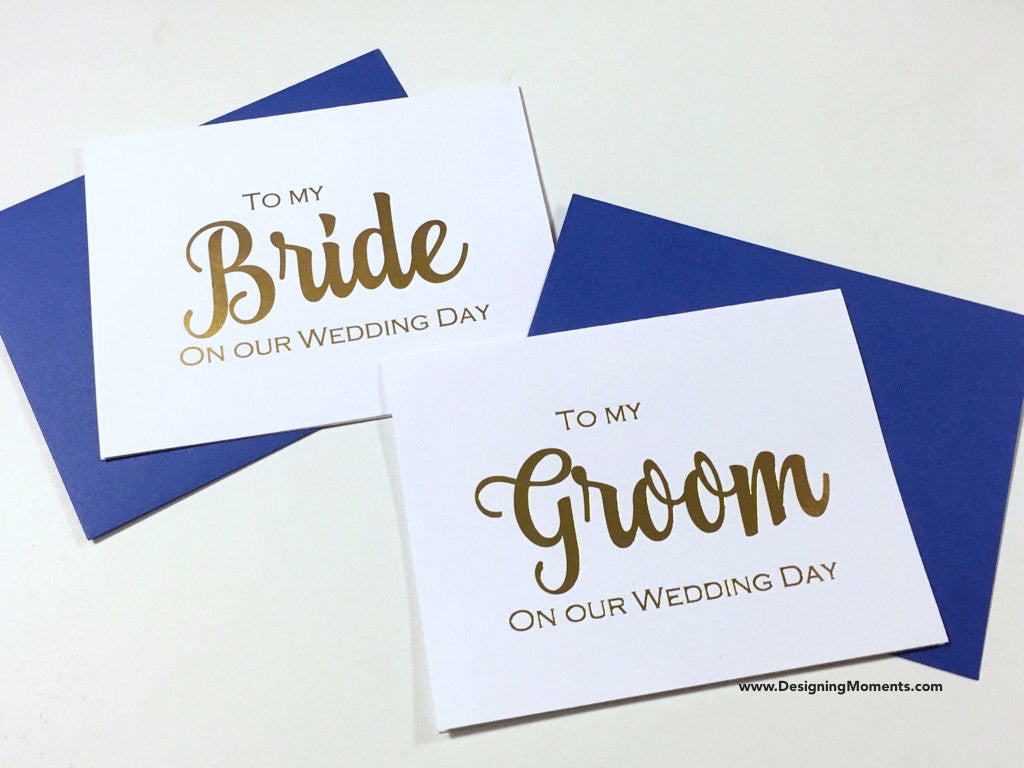 To My Bride and Groom on Our Wedding Day, Gold Foil